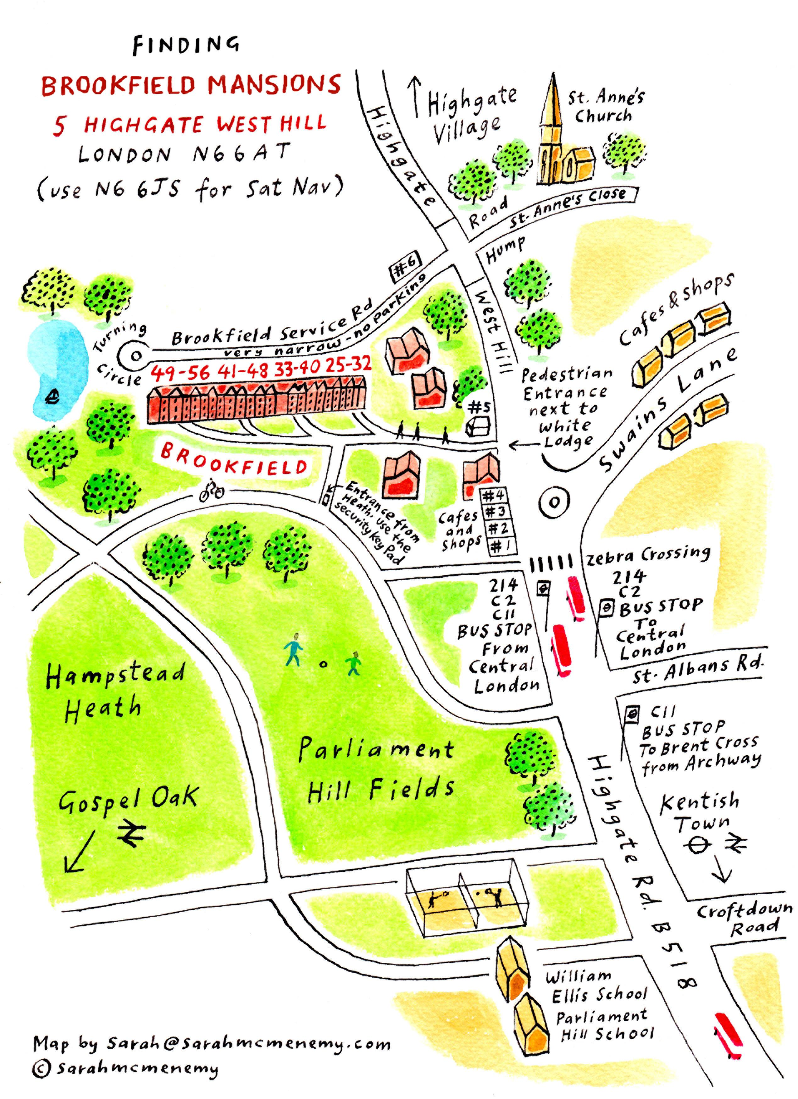 Map and Directions | Brookfield Mansions Freehold Ltd N Bus Map on